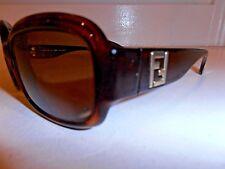 Fendi FS 5003 Brown Tortoise Plastic Frames Womens Prescription Sunglasses Italy