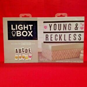Light Up Letter Box Cinematic LED Sign Party Wedding Plaque Shop Cinema *New*