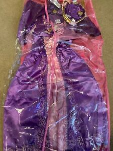 Disney Princess Rapunzel Costume with Cape Age 3-4 Braid & shoe covers included