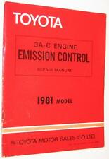 Toyota 3A-C Engine Emission Control Repair Manual 1981 Model OEM 36040 Shop Book