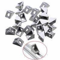 25 x Solid Cast Aluminum 2020 Corner Bracket for 20mm Extrusion 20*20*17mm Set