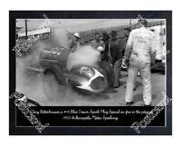 Historic Tony Bettenhausen's 14 Blue Crown Spark Plug Special 1950 Indy Postcard