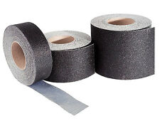 "12"" Wide Safety Track Floor Surfacing Tape Roll - Black"