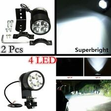 12V Universal 2pcs 4LED Motorcycle Work Spot Light Driving Headlight with Mount