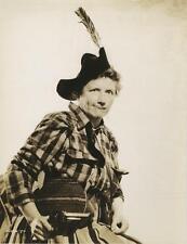 "MARJORIE MAIN-ORIGINAL PHOTO-DOUBLE WEIGHT PORTRAIT-FEATHER IN CAP-""MA KETTLE"""
