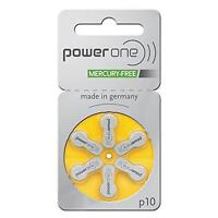 60 PowerOne Hearing Aid Batteries, SIZE 10, Newest Version