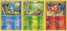 Pokemon Legendary Monkey 3 Cards Reverse Holo Set (Simisear, Simisage, Simipour)
