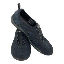 Sketchers Air Cooled Memory Foam Slip Shoes On Women's Sz 7 Black Sneakers