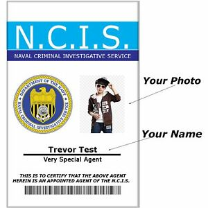 NCIS Photo ID Badge | Stage Prop | Childs Play ID | Novelty ID | Free P&P