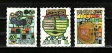 Senegal stamps #512 - 514, full set,MHOG, VVF, Hundertwasser Art, rare,SCV $135