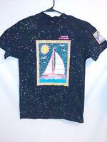 Vintage Ocean Isle North Carolina T-shirt Neon Colorful Sailboat Large