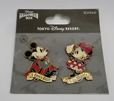 Disney TDR Halloween 2014 Vampire Mickey & Witch Minnie 2 Pin Set
