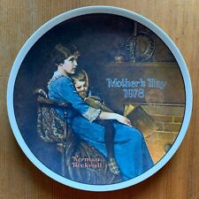 Knowles Norman Rockwell Collector Plate; 'Bedtime' Mother's Day 1978, with Coa