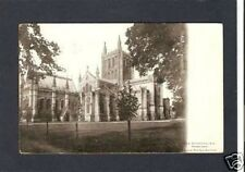 "HEREFORDSHIRE ""Hereford Cathedral"" black white postcard"