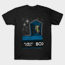 Stowaway Tinker Bell Fairy Peter Pan Doctor Who Tardis Mashup Funny Black Tshirt