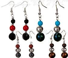 Mode-Ohrschmuck mit Perlen (Imitation) und Durchzieher-Verschluss