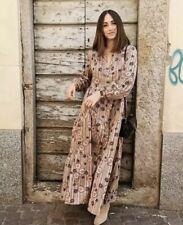 ZARA VOLUMINOUS LONG MAXI DRESS SIZE XL 14 16