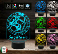SEGNO ZODIACALE  SAGITTARIO Lampada a led 7 colori selezionabili con touch Idea