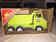 New listing Vintage Tonka No. 2585 Hydraulic Dump Truck Lime Green 1970-73 Nip