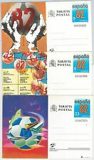 SPAIN - Set of 3 POSTAL STATIONERY CARDS for 1982 World FOOTBALL Championship