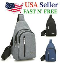 Mens Sling Bag CrossBody Chest Bag Sports Travel Nylon Shoulder Backpack Handbag