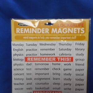 NEW Magnifico! Lockerlife Reminder Magnets from Magnetic Poetry
