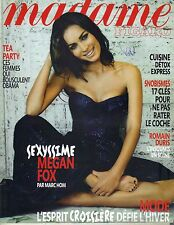 MEGAN FOX French Madame Figaro SUPPLEMENT Magazine 1/8/11 SEXYSSIME BAREFOOT  PC