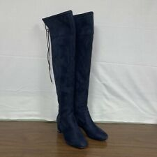 Michael Kors Jamie Blue Suede Over-the-Knee Boots