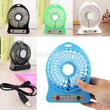 Wholesale Portable Rechargeable LED Light Fan Air Cooler Mini Desk USB Fan