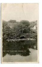 Vintage Postcard MENOMONIE WI Boat Livery Wilson Creek  RPPC 1910
