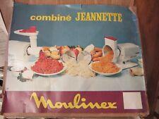 VINTAGE MOULINEX JEANNETTE MEAT GRINDER COMBINE WITH SALAD ATTACHMENTS~WORKS~