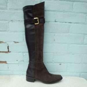 Moda in Pelle Suede Leather Boots Size UK 5 Eur 38 Womens Pull on Brown Boots