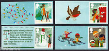2014 CHRISTMAS SMILERS Set of Four SINGLE LITHO STAMPS + LABELS from LS90