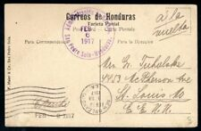 Honduras 1917 Vintage Postcard Vista de Chamelecon to USA, New Orleans Postmark