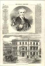 1855 Right Honourable David Salomon's Lord Mayor New Offices Duchy Of Cornwall