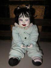 Creepy Little Vivian the Vampire Horror Doll Halloween Porcelain Weighted
