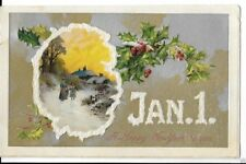 new years eve postcard dated 1909
