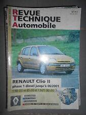 Renault CLIO II 1.9 Diesel 1998/2001 : revue technique RTA 624/659
