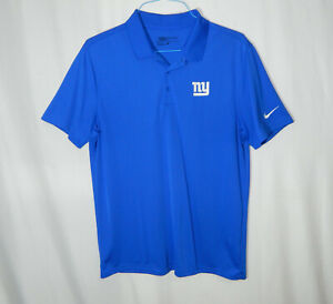 New York Giants NFL Football Nike Dri Fit Golf Polo Shirt Large L Mens Clothing