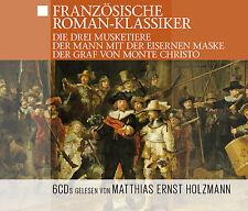Hörbuch CD Französische Roman Klassiker 6CDs Der Graf von Montechristo,Die Drei
