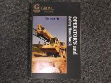 Grove RT740 Long Boom Crane Rough Terrain Factory Owner Operator User Manual