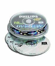 PHILIPS DVD+RW 120 MIN VÍDEO 4.7GB DATOS 4X VELOCIDAD BLANCO DISCOS SOPORTE