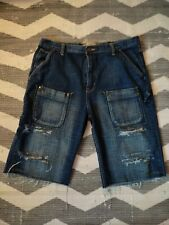 NBN GEAR JEANS  SHORTS. SIZE -40  ripped cut off shorts
