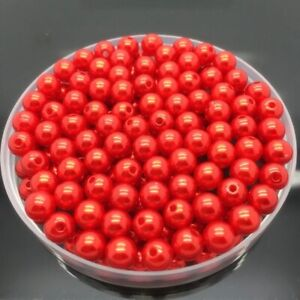 4/6/8/10mm Beads Acrylic Round Spacer Pearl Loose Crafts Jewelry Making DIY