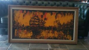 """DW Cranch Large (25"""" x 47"""") Framed Oil on Board-Sailing Ships -Signed Dated 2011"""