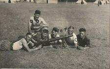 Soldier group unknown regiment with Lewis Gun at Camp