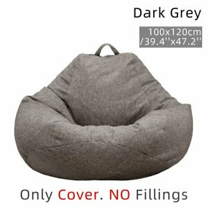 Large Bean Bag Chair Sofa Couch Cover Tall Gamer Indoor Lazy Bag (No Filling)