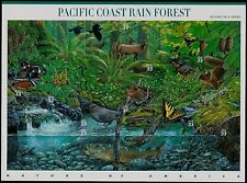 2000 PACIFIC COAST RAIN FOREST Nature of America 2, MNH Sheet 10 33¢ Stamps 3378