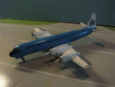 "SET OF TWO BRANIFF BLUE & ORANGE L-188 ""ELECTRA"" 1:200 SCALE DIECAST METAL MODEL"
