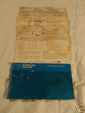 PLYMOUTH VALIANT 1975 ORIGINAL OWNERS MANUAL GNTLY USED